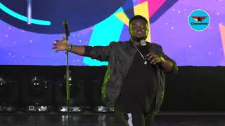 """""""In Nigeria, there are roads on potholes"""" - Comedian Acapella thrills at MMC Live"""