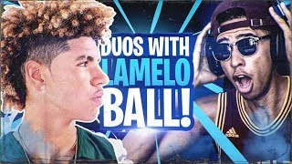 PLAYING FORTNITE WITH LAMELO BALL! Fortnite Battle Royale