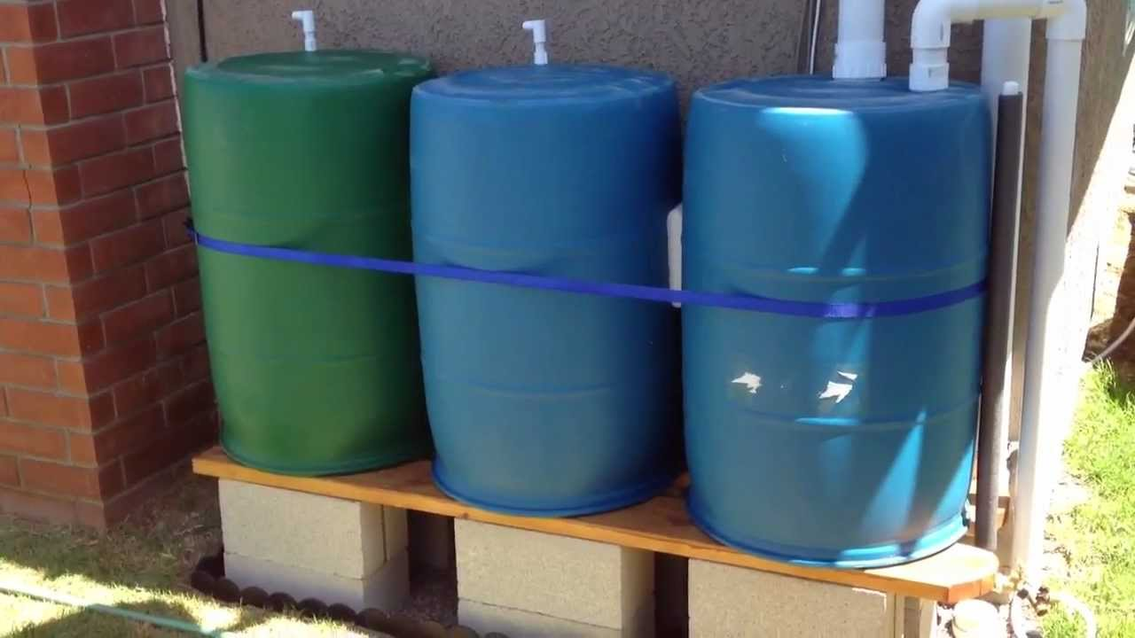 Rain Barrel Irrigation System Youtube