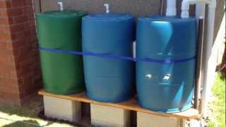 Rain Barrel Irrigation System(Rain Harvesting and drip irrigation system for raised bed vegetable garden., 2012-08-27T06:16:35.000Z)