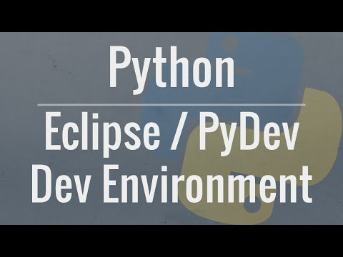 Setting up a Python Development Environment in Eclipse