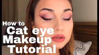 How to Cat Eye Makeup   Shirin Van Dort