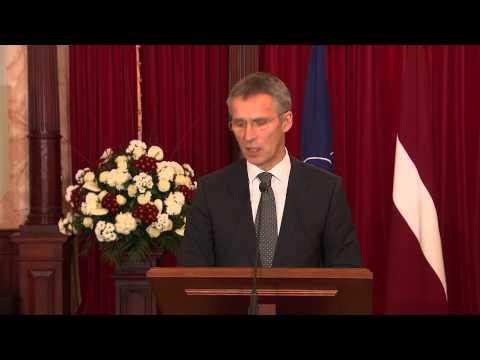 NATO Secretary General and President of Republic of Latvia, 20 NOV 2014
