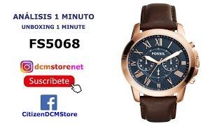 FS5068 Fossil Revisión 1 Minuto Unboxing 1 Minute
