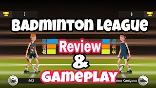 Badminton League Game | Review and Gameplay | Games Of Android