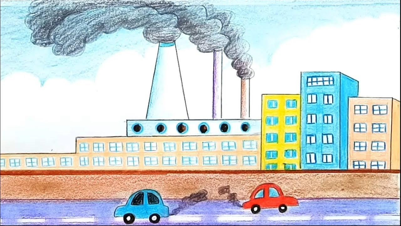 Pollution Image Drawing