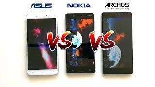 Nokia 5 vs. Asus Zenfone 3 Max (ZC553KL) vs. Archos 55 Diamond Selfie | AnTuTu Benchmark