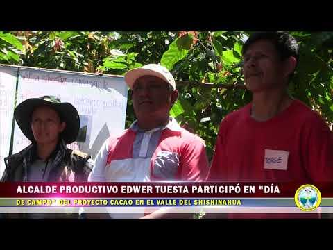 ALCALDE PRODUCTIVO PARTICIPÓ EN DÍA DE CAMPO DEL PROYECTO CACAO EN EL VALLE DEL SHISHINAHUA