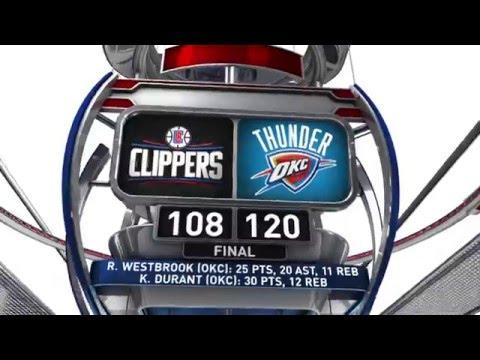 Los Angeles Clippers vs Oklahoma City Thunder - March 9, 2016