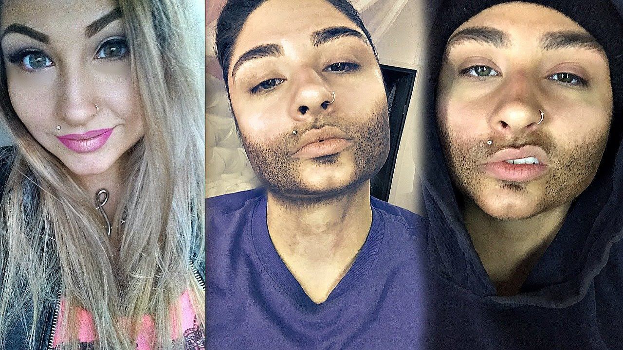 Woman To Man Transformation : Drag King Makeup Tutorial and Time Lapse - YouTube