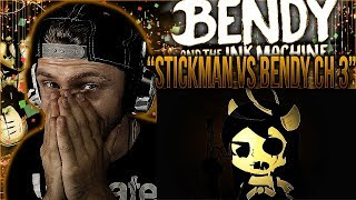 "Vapor Reacts #490 | BATIM FUNNY ANIMATION ""Stickman Vs Bendy Chapter 3"" by JzBoy REACTION!!"