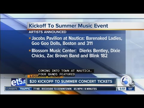 Live Nation offers $20 concert tickets