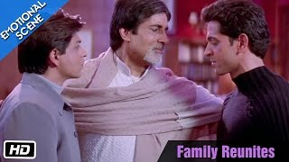 Video Family Reunites - Emotional Scene - Kabhi Khushi Kabhie Gham - Amitabh Bachchan, ShahRukh Khan download MP3, 3GP, MP4, WEBM, AVI, FLV Oktober 2019