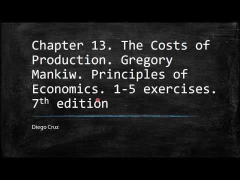 Chapter 13  1-5 exercises. The Costs of Production. Gregory Mankiw. Principles of Economics.