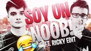 ME HAGO PASAR POR NOOB Y LES GANO LA PARTIDA #5 CON RICKY EDIT   FORTNITE   Ryux