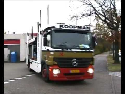 mercedes benz actros 1832ll koopman car transporter youtube. Black Bedroom Furniture Sets. Home Design Ideas