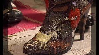 Расписываем красками старую обувь, сумки и текстиль. Мастер класс. Татьяна Лазарева