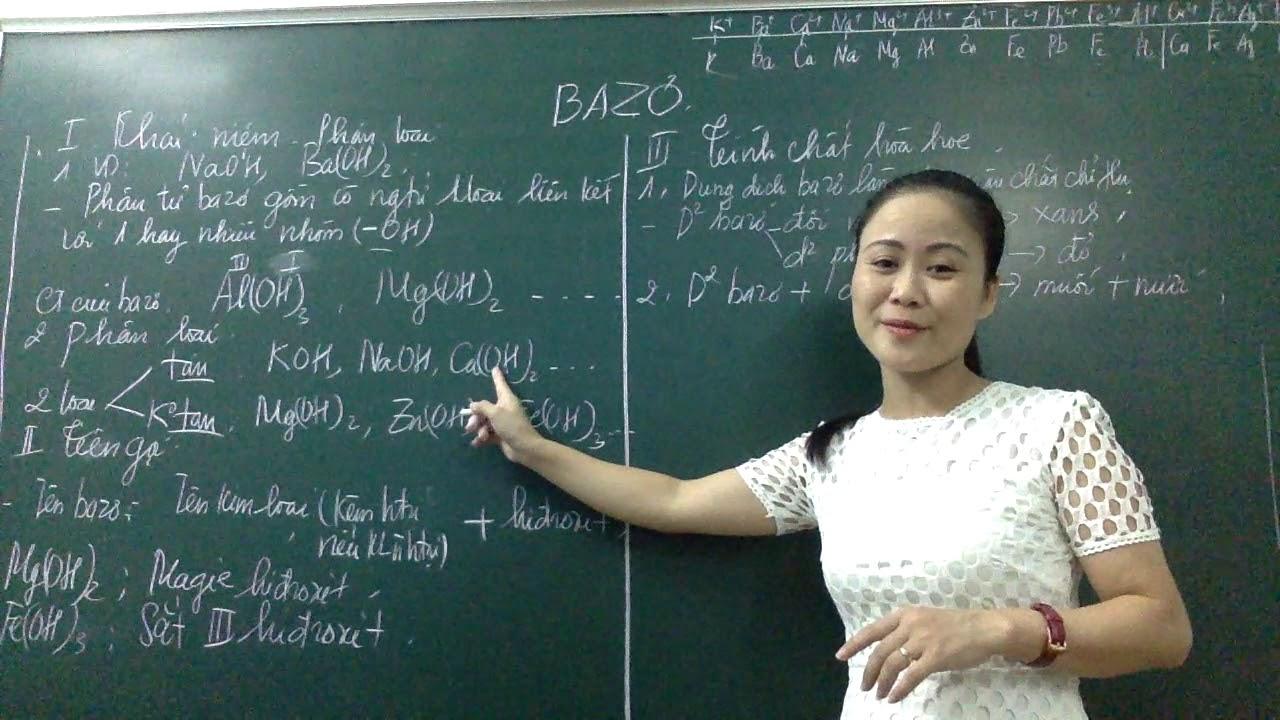 Tính chất hóa học của Bazo – Hóa 8,9