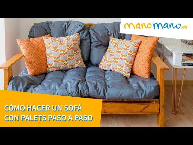 Cómo hacer un sofá con palets Paso a paso [ManoMano ES]