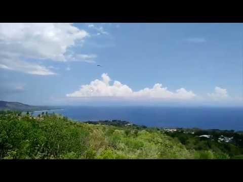 Overview over Larena Siquijor Island Philippines