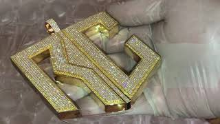 High End Custom Hand Set Celebrity Pendants/Medallions #Custompendants #Handset #customjewelry #vs