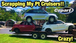 Taking My Parts PT Cruisers From Copart Salvage Auction To The Scrapyard
