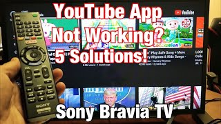 Sony Bravia Tv Youtube App Not Working Frozen Stuck On Buffering Black Screen Fixed Youtube