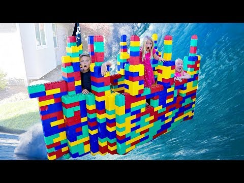 GIANT LEGO Battleship Game! BOYS Vs. GIRLS