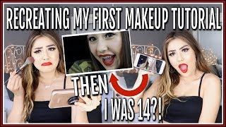 RECREATING MY FIRST MAKEUP TUTORIAL FROM 4 YEARS AGO... ♡
