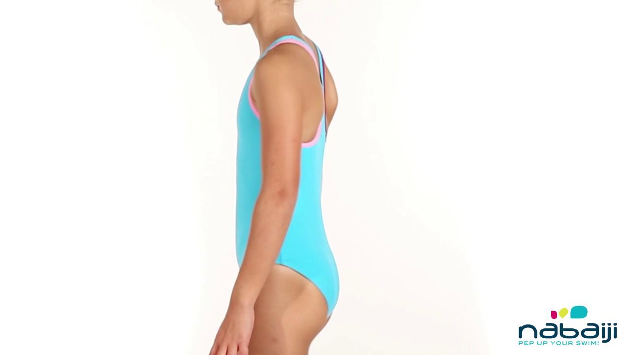 ae759a0ae Maiô Leony de natação Infantil Nabaiji - Exclusividade Decathlon ...