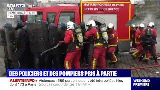 Gilets jaunes: au moins deux pompiers blessés après les violences place d'Italie à Paris
