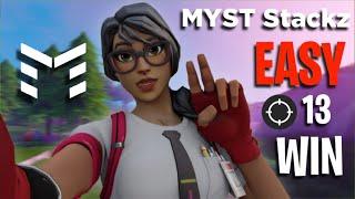 EASY SOLO WIN || 13 KILLS || FORTNITE || Myst Stackz