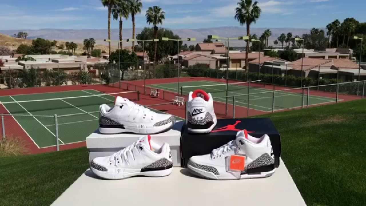 72c8218001f3 ShoeZeum Roger Federer s Nike Air Jordan 3 Zoom Vapor AJ3 - YouTube