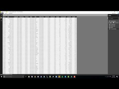 Creating a date table in power BI
