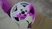 Покраска штампованных дисков R15 от Skoda Octavia в зелёный - YouTube