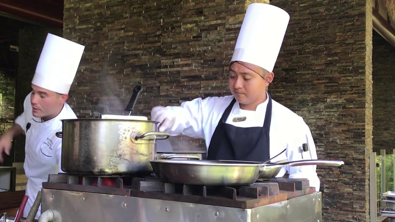 Grand Velas Riviera Maya Resort Cooking and Plating Demonstration