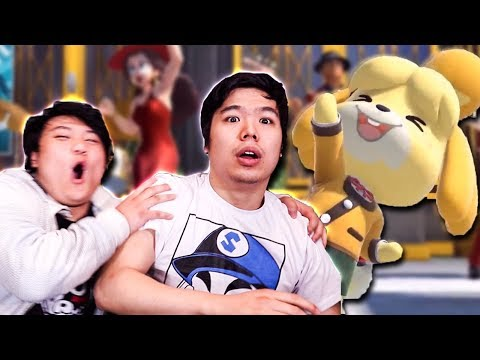 NINTENDO DIRECT REACTION! Isabelle in Smash Bros Ultimate, Animal Crossing and Luigis Mansion 3!