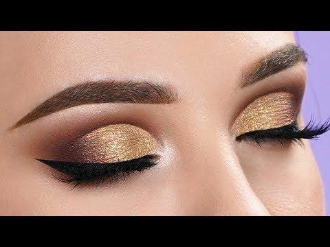 FANCY GOLD Half Cut Crease Makeup Tutorial thumbnail
