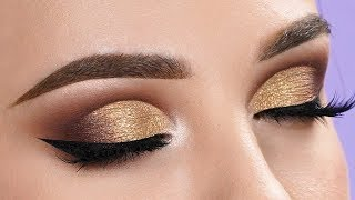 FANCY GOLD Half Cut Crease Makeup Tutorial