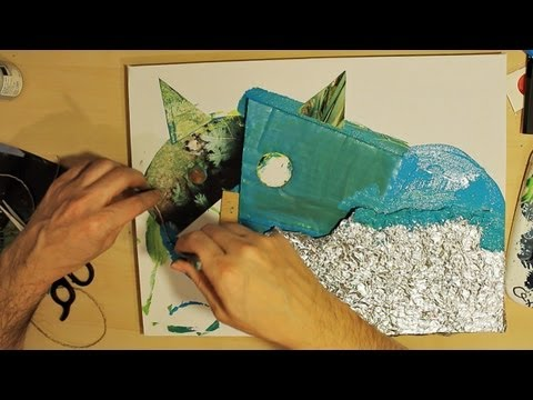 HOW TO ADD Textures to ACRYLIC paintings STEP BY STEP process with