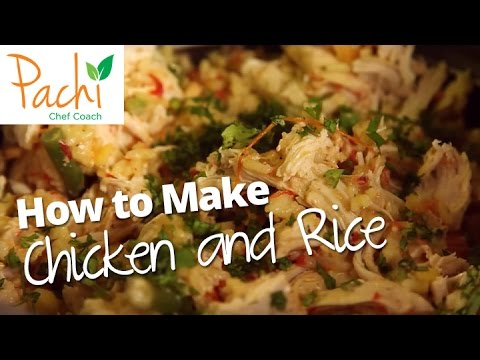 How To Make COLOMBIAN Chicken And Rice - ARROZ CON POLLO In One Pot, And With Brown Rice Too!
