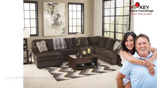 Ashley Jessa Place 3 Piece Sectional With Chaise (APK-39804-L3) | KEY Home