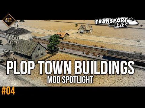 Plop Town Buildings Mod and Railroad Crossings Mod spotlights | Transport Fever Metropolis #4