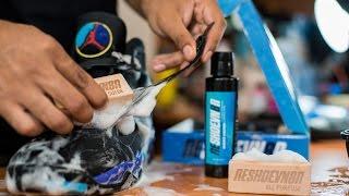 Restorations with Vick - Air Jordan Aqua 8 Deep Cleaning & Midsole Repaint