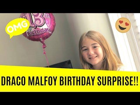 Tom Felton (Draco Malfoy) gives Flea gets a Surprise Birthday Message!