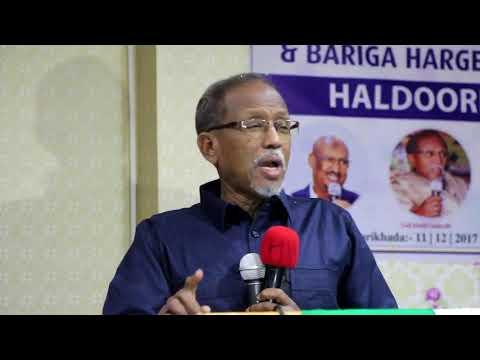 Prof Cali Khaliif Oo Hargeisa kaga Sheekeeyey Noloshiisii Hore ee Somaliland iyo Somalia