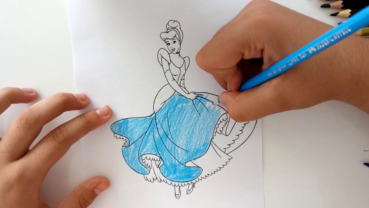 Prenses Boyama Serisi Sindirella Boyama Oyunu Youtube