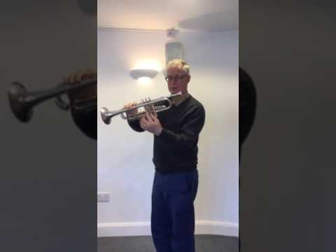 How to hold the trumpet/cornet