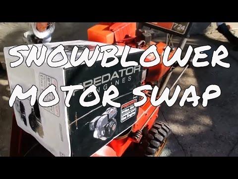 SNOWBLOWER Motor Swap; new Predator (Honda clone) motor to replace the old tecumseh on 1977 Toro 724