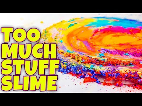 SLIME WITH TOO MANY INGREDIENTS! TESTING SLIME BY ADDING TOO MUCH STUFF!